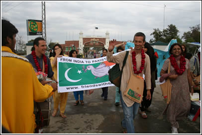We received a hero's welcome upon arrival into Pakistan, with a marching band and all!